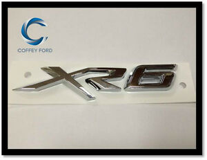 "Genuine Ford Falcon FGX ""XR6"" Badge. Front Grille. Silver. AU/BA/BF."