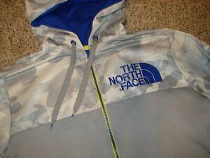 North Face Softshell Hoodie Lightweight Jacket Sweatshirt Full Zip XL EUC