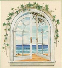 Seaside Window Prepasted Wallpaper Accent Mural Imperial 31446160