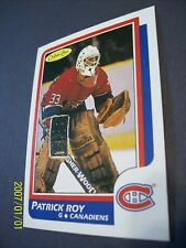 "1986-87 O-Pee-Chee # 53 Patrick Roy (Montreal Canadiens) ""Novelty"" Rookie Card!"