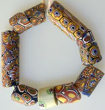 10 Mixed Venetian Millefiori Trade Beads - African Trade Beads