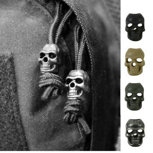 Skull shaped cord lock stopper 10 pack for army ideal nav / pacer beads