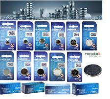 Renata Watch Battery Swiss ,CR1025,CR1220,CR1616,CR1632,CR2016,CR2025 All Sizes