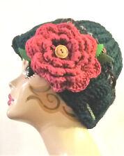 Cappello/donna/invernale/fiori/hat/berretto/shabby/bohemien/beanie/rose/Natale