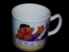 Vintage Porcelain Sesame Street Jim Henson Muppets Bert & Ernie Learn Shapes Mug