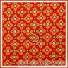 BonEful Fabric FQ Cotton Quilt Orange Pink Green Red Flower Dot Calico Sm Stripe