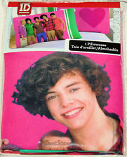 NIP Licensed 1D One Direction Boy Band Harry PINK HEART Reversible Pillowcase