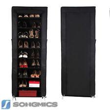 Songmics Armoire Étagères À Chaussures 10 couches avec Housse 27 paires de C