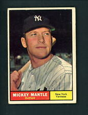 1961 Topps # 300 Mickey Mantle VG cond New York Yankees