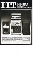 PUBLICITE ADVERTISING   1979   ITT   la hi-fi 80