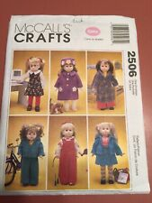 "Vintage McCall's Craft Pattern 2506 18"" Doll Clothes"