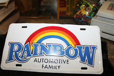 Vintage Rainbow Automotive Family License Plate