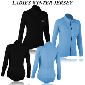 Ladies Winter Cycling Jersey Long Sleeve Road Bike Cycle Jersey Women's Shirt
