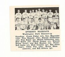 Everett Bluejays Washington 1953 Baseball Team Picture