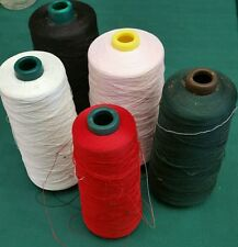 5 Spools red pink black white green Overlock Thread 100% Spun TEXTURED PolyesteR