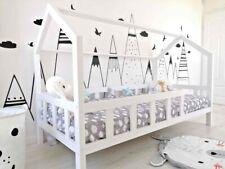 Kinderbett Kinderhaus Kinder Bett Holz Haus Spielbett Hausbett 90x200 weiss
