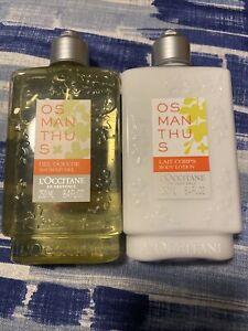 BN L'Occitane Osmanthus Shower Gel & Body Lotion Set 250ml Each