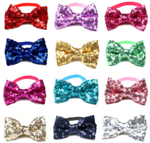 Small sequin bow tie / bowtie collar for your pet dog or cat or child
