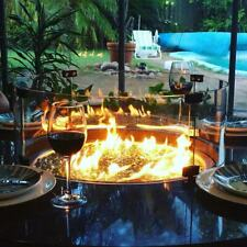 High Quality Alfresco Weatherproof Table with Gas Fire Place Pit Outdoor Meals