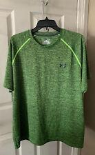 Under Armour Men's Heatgear Short Sleeve Shirt Green & Black Mens Size XL