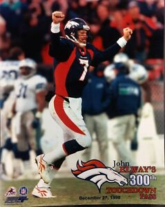 JOHN ELWAY 300th TOUCHDOWN PASS 8X10 PHOTO Denver Broncos 12/27/1998