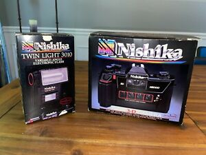 Vintage Nishika N8000 3D Camera With Flash in the box