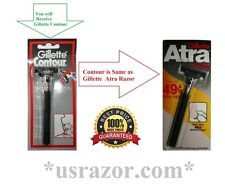 Gillette Contour Razor Fits Atra Plus Schick Slim Twin Blades Cartridges Refills