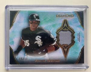 2021 Topps Diamond Icons Frank Thomas Relic Patch 5/10 HOF White Sox RARE!