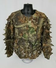 Mens Duxbak Camo Ghillie Suit Jacket Medium EUC Pre-owned Zip Front Hunting