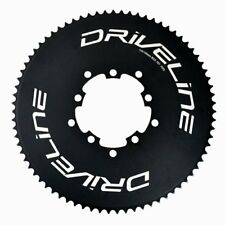 Driveline AL7075 Road Bike Bicycle TT Chainring 75T, BCD 110/130mm, Black
