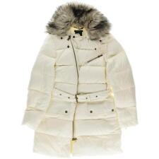 Lauren Ralph Lauren 4619 Womens Ivory Quilted Down Outerwear Parka Coat XL BHFO