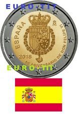 2 €  ESPAGNE COMMEMORATIVE 2018  1  X  PIECE   FELIPE  VI    2018     disponible