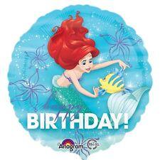 "18"" ARIEL MERMAID HAPPY BIRTHDAY DREAM BIG HELIUM FOIL BALLOON PARTY 33935"