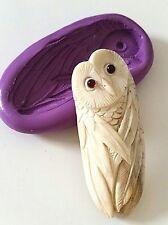 OWL Silicone Mould 64 mm FOOD SAFE Animal Bird spirit Barn Owl Polymer Clay