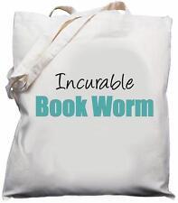 Incurable Book Worm - Natural (Cream) Cotton Shoulder Bag