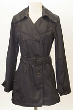 MEXX Women's Black Double Breasted Lightweight Rain Coat Sz US 0 $150