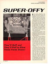 1966 OFFENHAUSER RACING ENGINE / GMC 4-71 SUPERCHARGER ~ ORIGINAL 4-PAGE ARTICLE