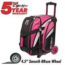 KR Strikeforce Cruiser Smooth Pink/White/Black 2 Ball Roller Bowling Bag