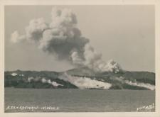 KK Bergen, Grèce, Santorini, volcan en irruption, ca.1925, Vintage silver print