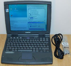 "12,1"" Laptop Notebook Compaq Armada 1540D MMX 166MHz 3GB 32MB CD Win 98 SE RS232"