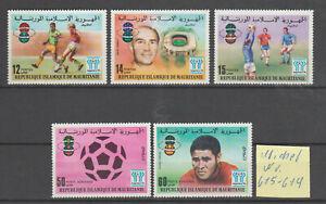 Mauretanien:Nr:615-619 postfrisch.1 Satz:Fußball WM in Argentinien.