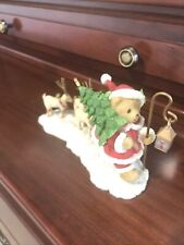 Cherished Teddies 2011 Figurine, Carl, Santa, 4023738, Christmas, Tree, Nib.