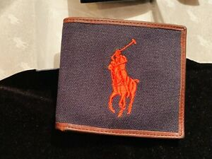 Polo by Ralph Lauren logo leather Wallet NWT