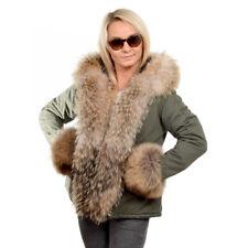 Parka mit Besatz aus Raccoon Pelz Jacke mit Kapuze aus Waschbär Fell Mantel FOX