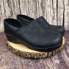 Dansko Clogs Matte Black Occupational Professional Nurse Shoes Size 38 US 7.5-8