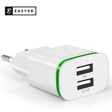 Eazyer Doppel USB LED Ladeadapter Iphone Ladegerät Netzteil 2-Fach Stecker