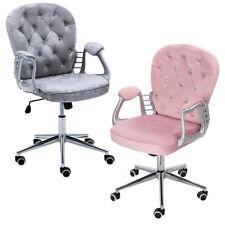 Office Computer Desk Chair Velvet PU Leather Upholstered Swivel Chair Adjustable