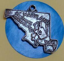 Charm M126 Maryland Map Sterling Silver Vintage Bracelet