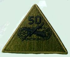 "Vintage 50th Armored Division Subdued Embroidered 4"" Patch New"