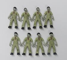 "lot of 8 Bloks Call of Duty Zombies Outbreak The Walking Dead action figure 2"" w"